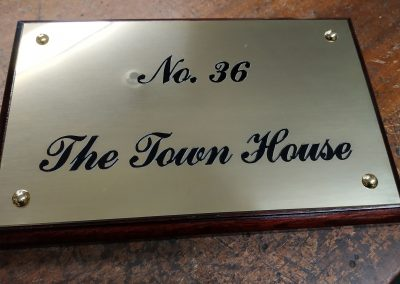 Polished Brass Plate