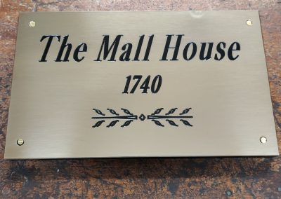 Polished Brass House Name