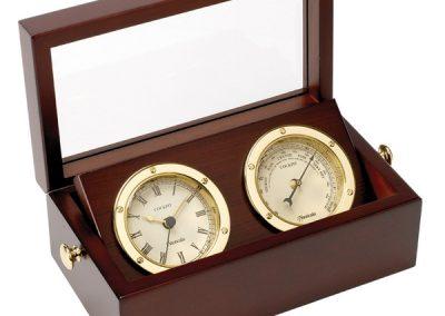 Barometer and Clock Set