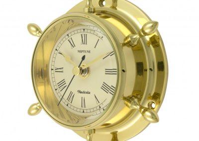 Ships Wheel Clock med